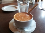 A cup of the lobster bisque. The smell alone was good enough to draw you in.