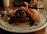 The Popeye Burger: spinach, mushrooms, caramelized onions, and homemade Boursin cheese