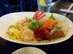 A nice spread of sashimi.