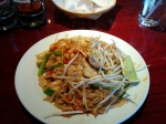 A heaping plate of the chicken pad thai. Boy, was it filling.